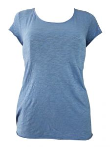 Sinina Blue Casual Printed Cotton Top-t22