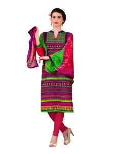 Sinina Dress Materials (Singles) - Sinina Cotton Embroidered Salwar Kameez Suit Unstitched Dress Material-wave19