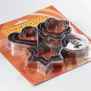 Assorted Makers - Omrd Baking Cake Cookie Biscuit Different Design Metal Mold Cutter Set Of 1