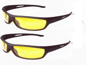 Set Of 2 Night Driving Glare Free Sunglasses
