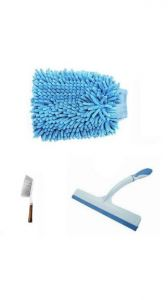 Snr Car Carpet Brush And Hand Duster Plus Wiper
