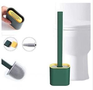 Bathroom Essentials - Toilet Brush - Silicone Toilet Cleaning Brush and Holder