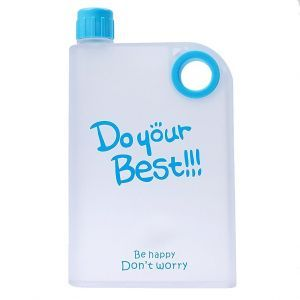 Snr Do Your Best A5 Notebook Style Ultra Slim Bpa Free Water Bottle Travel Easy ( Multi Color )