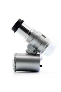 World Smallest Microscope 60x LED Magnifier With Uv Money Checker Currency