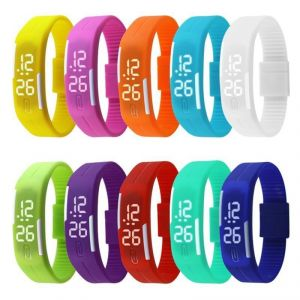 Buy 1 Get 1 Free - LED Jelly Slim Trendy Digital Watch
