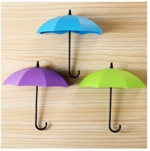 Gade Umbrella Drop Style Clothes Key Hat Wall Hanger Hooks 3 PCs