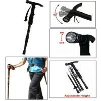 Hiking Pole With 9 LED Light Trekking Pole Walking Stick