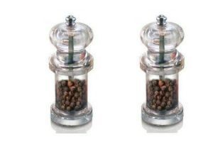Omrd Set Of 2 Manual Pepper Hand Mill - Grinder 10 Cm