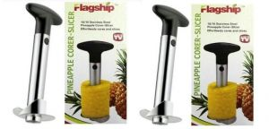Dh Set Of 2 Stainless Steel Easy Pineapple Corer,slicer