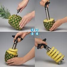 Graters, Scrapers, Openers - Stainless Steel Pineapple Peeler Pine Apple Slicer Pine Apple Corer / Cutte