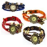 Set Of 4 Vintage Style Ladies Leather Bracelet Watch
