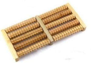 Omrd Acupressure Wooden Foot Massager Roller Massager