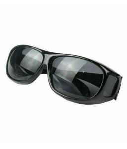 Unisex HD Night Vision Driving Sunglasses Over Wrap Around Glasses ( Black )