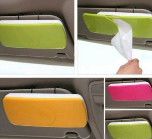 Car Sun Visor Sun-shading Board Car Tissue Box With Clip