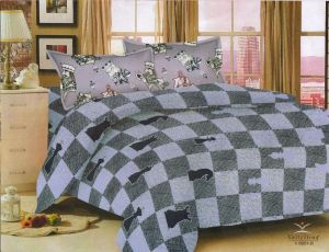 Bed Sheets - Welhouse King Size 1 Double bedsheet with 2 pillow covers NMJS-008