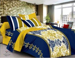 Bed Sheets - Welhouse India cotton king size 1 double bedsheet with 2 pillow covers (TR_LV-001)