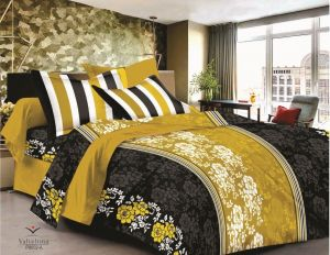 King Size Bed Sheets - Welhouse India cotton king size 1 double bedsheet with 2 pillow covers (TR_LV-004)