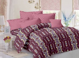 King Size Bed Sheets - Welhouse India cotton king size 1 double bedsheet with 2 pillow covers (TR_LV-010)