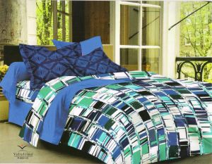 King Size Bed Sheets - Welhouse India cotton king size 1 double bedsheet with 2 pillow covers (TR_LV-013)