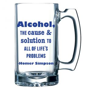 10 AM Alcohol-the Cause Beer Mug - Bmacs4