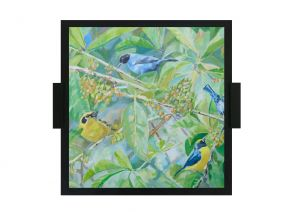 Serving Trays - 10 am Bird Painting Tray ( TRB11_1)