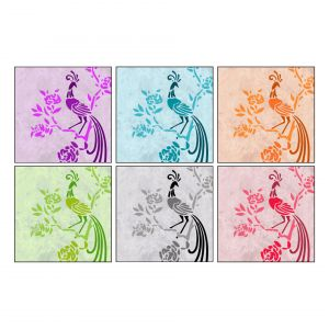 10 AM Birds Coasters - Acrylic - ( Set Of 6 )