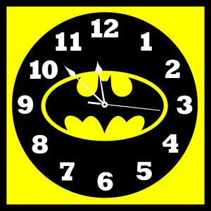 10 AM Batman Clock - Canvas ( Clba21 )