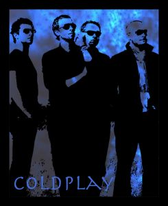 10 AM Coldplay Framed Wall Art_blue With Glass