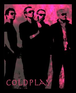 10 AM Coldplay Framed Wall Art_pink With Glass
