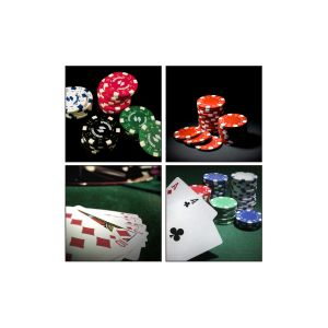 10 AM Poker Coasters - Sunboard - ( Set Of 4 )