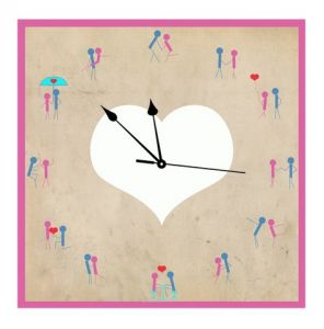 10 AM Cupid Clock- Acrylic ( Clcu14 )