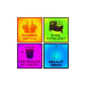 10 AM India Funny Coasters - Sunboard - ( Set Of 6 )