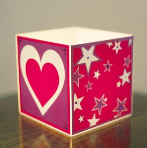 10 AM Heart & Stars Cube Lamp ( Laclhs06 )