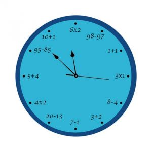 10 AM Maths Clock- Acrylic ( Clm2 )