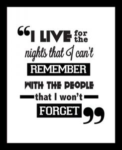 "10 AM Nights I Can""t Remember Framed Wall Art ( Fn24 )"