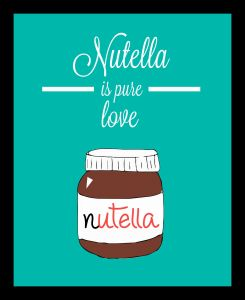 10 AM Nutella Love Wall Art Without Glass