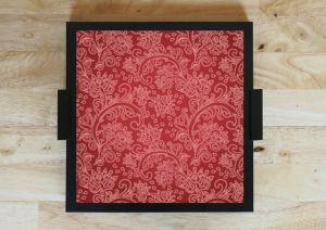 10 AM Red Pattern Tray ( Trre6 )