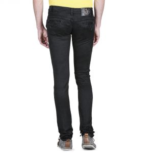 Savon Mens 103 Slim Fit Black Stretch Denim Jeans For Men