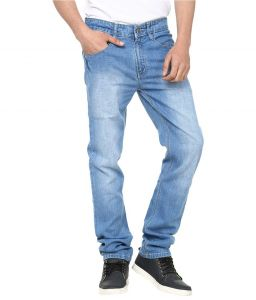 Savon Nice Looking Blue Slim Fit Faded Jeans