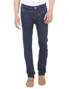 Savon Mens Ni11091_02 Slim Fit Blue Stretch Denim Jeans For Men