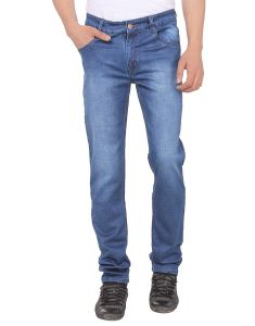 Savon Mens Ni11112_02 Slim Fit Blue Stretch Denim Jeans For Men