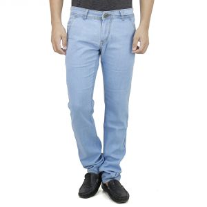 Savon Mens Slim Fit Stretch Trouser Shape Blue Denim Jeans For Men Light Comfortable Fabric (product Code - Sh507110-01)