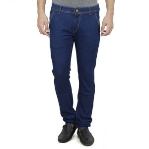 Savon Mens Slim Fit Stretch Trouser Shape Blue Denim Jeans For Men Light Comfortable Fabric (product Code - Sh507110-02)