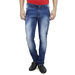 Savon Mens Slim Fit Trouser Shape Stretch Blue Denim Jeans For Men (product Code - Sh507115-01)