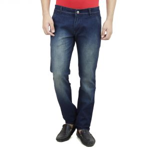 Savon Mens Slim Fit Stretch Blue Denim Jeans For Men (product Code - Sh508117-02)
