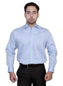 Iq Pure Cotton Skyblue Shirt For Men 441a40_3