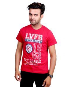 Port T Shirts (Men's) - Neva Men's Red Premium Quality T- Shirt 4x8a6516