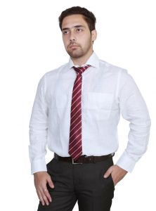 Iq Pure Cotton White Shirt For Men A2111_3