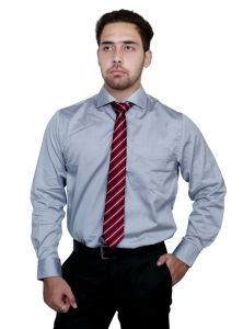 Iq Pure Cotton Grey Shirt For Men A6171_3