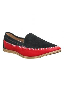 Port Grave Red B Black Loafer